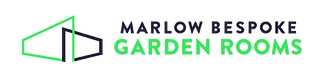 Marlow Bespoke Garden Rooms logo in green and blue