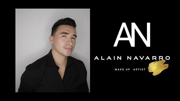 Alain Navarro make up social media logo.