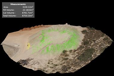 מדידת נפחי ערימות עפר