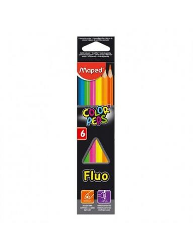 שישה עפרונות זוהרים מבית maped