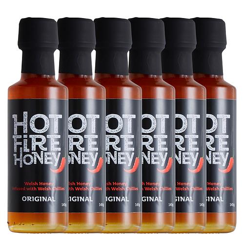 Welsh Hot Honey - Hot Fire Honey - 6 x 145g