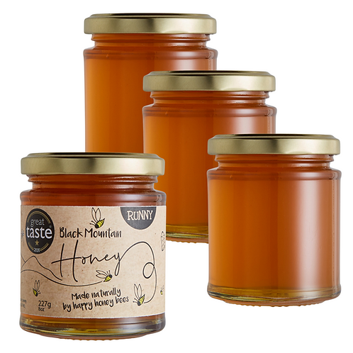 Great Taste Award Winning Welsh Wildflower Runny Honey - 4 x 227g
