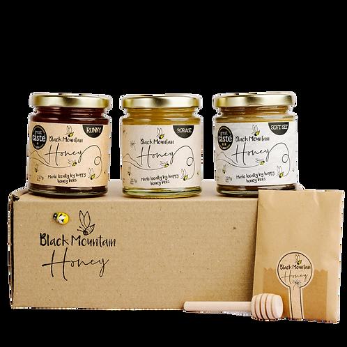 Great Taste Award Winning Honey Gift Box - 3 Jars