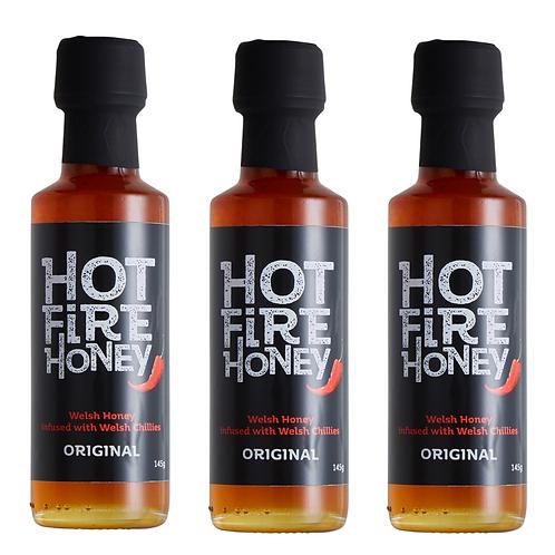 Welsh Hot Fire Honey - Hot Fire Honey - 3 x 145g