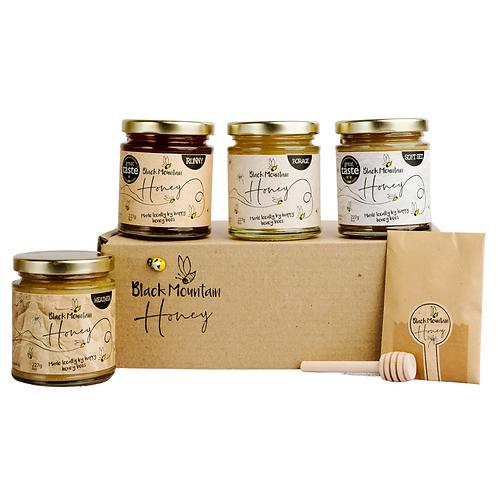 Great Taste Award Winning Honey Gift Box - 4 Jars