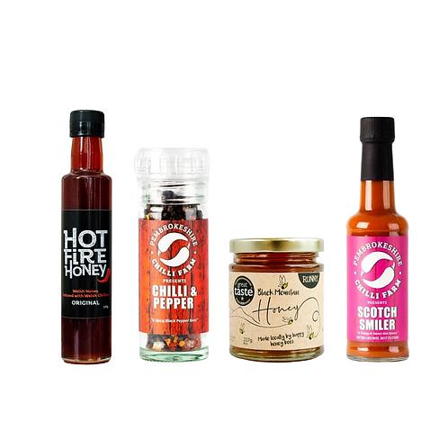 Welsh Hot Fire Honey - Chilli Lovers Hamper