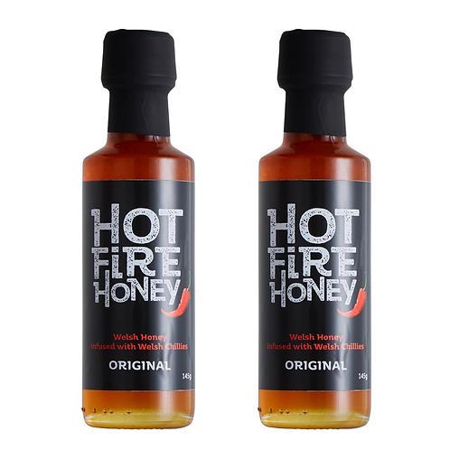 Welsh Hot Fire Honey - Hot Fire Honey - 2 x 145g