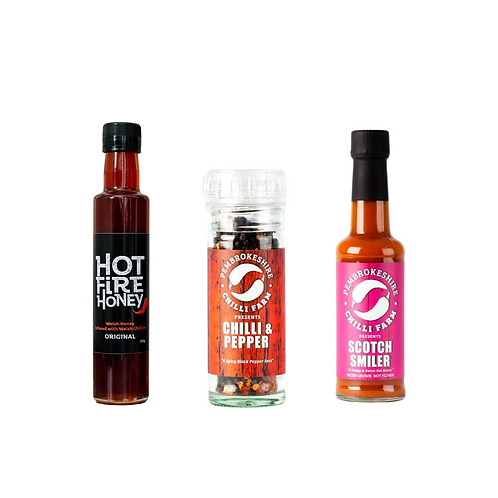 Welsh Hot Honey - Chilli Lovers Gift Set