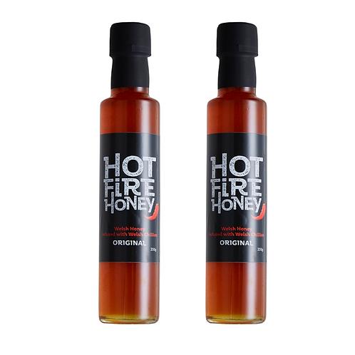 Welsh Hot Honey - Hot Fire Honey - 2 x 350g