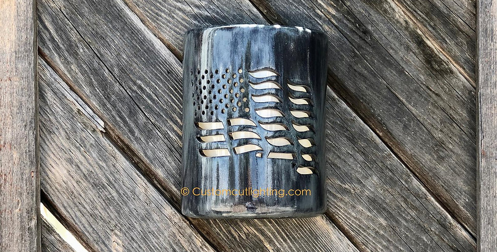 American Flag Sconce