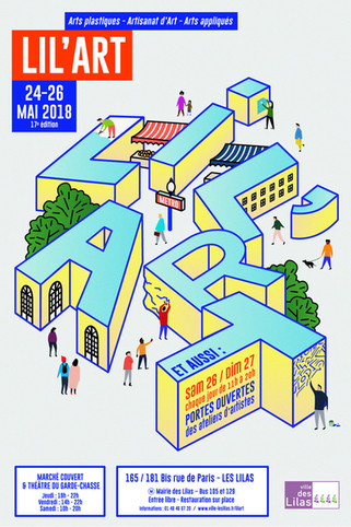 Exposition LIL'ART  24, 25, 26 mai 2018 stand 12 marché couvert