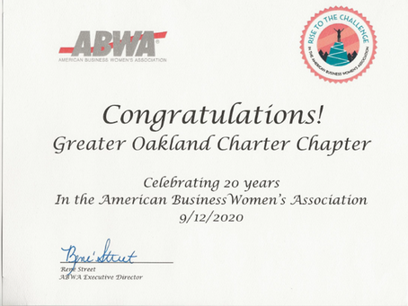 20th Anniversary - Greater Oakland Charter Chapter