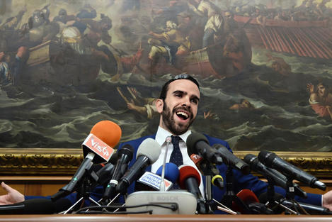 Press conference at the Italian Parliament, invited by our friend Matteo Salvini