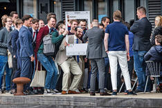 With Dutch young supporters, 2019.
