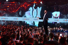 Massive display for Russian TV. 2018.