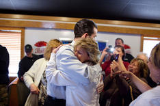 Warm moments on the campaign trail. New York, 2013