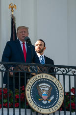 Supporting President Trump at his address to the nation before the Congressional Picnic at The White House, 2019