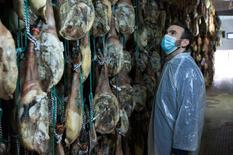 Visiting a ham farm in Spain, 2019.