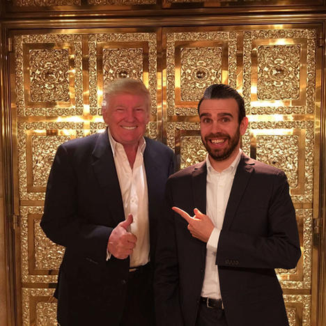 Sharing a laugh at Trump Tower