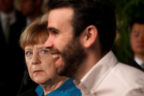 Why the sad face, Angela?