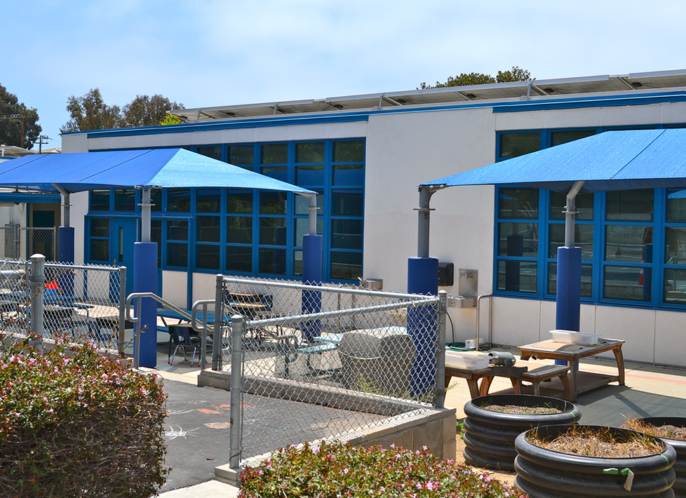 Webster Classroom Exterior with Play Area