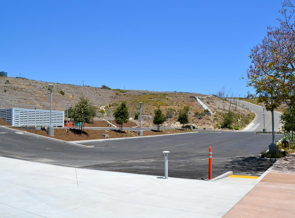 Malibu High School/Middle School Front of School Parking Lot