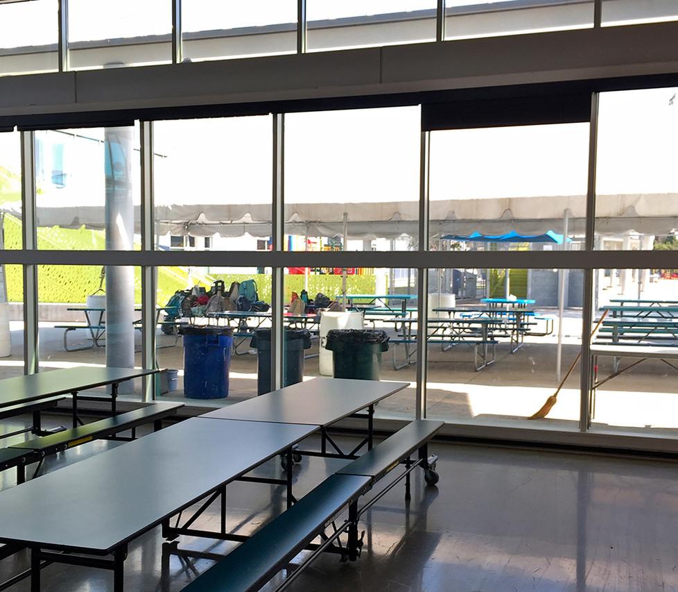 Edison Cafetorium Outdoor Seating Area