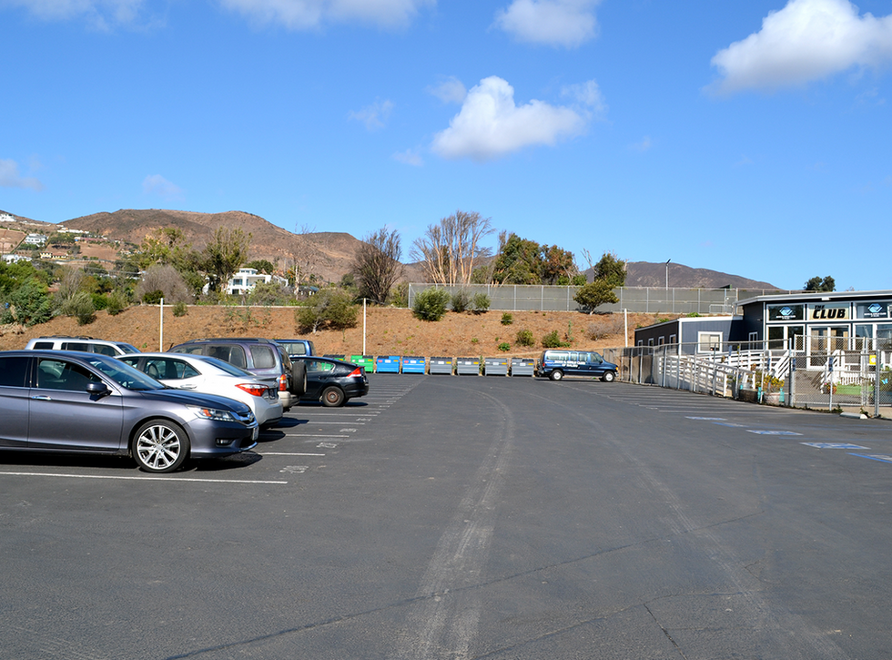 Malibu High School/Middle School Student Parking Lot