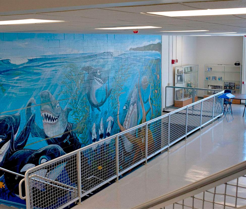 Malibu High School Gym Hallway