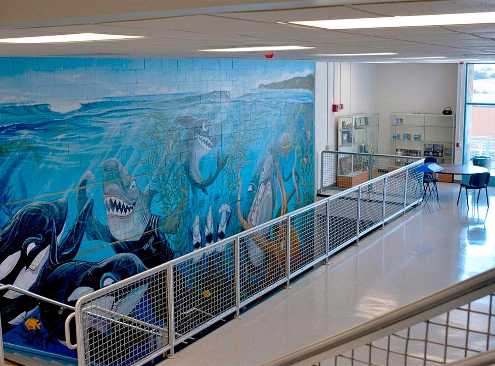 Malibu High School/Middle School  Gym Hallway