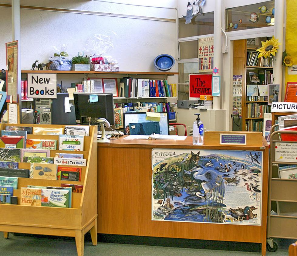 Webster Elementary School Library Desk Area