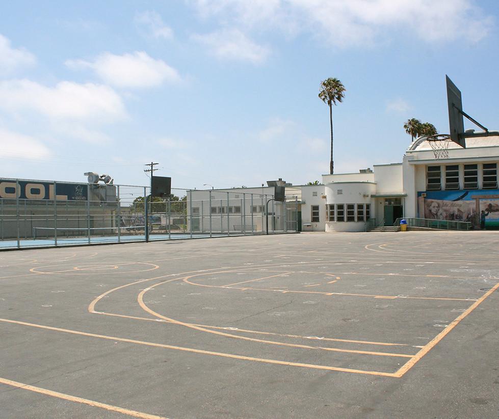 John Adams Middle School Outdoor Basketball Court