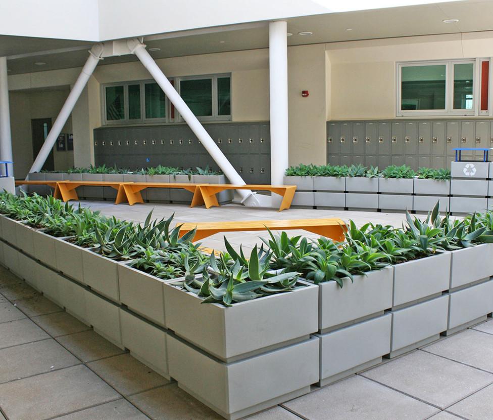 Santa Monica High School Innovation Building Lockers
