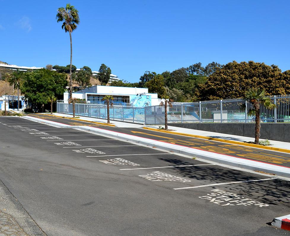 Webster Elementary School Staff Parking Lot