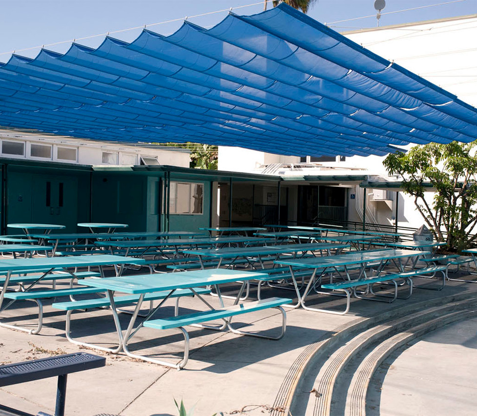 Franklin Elementary School Outdoor Lunch Tables