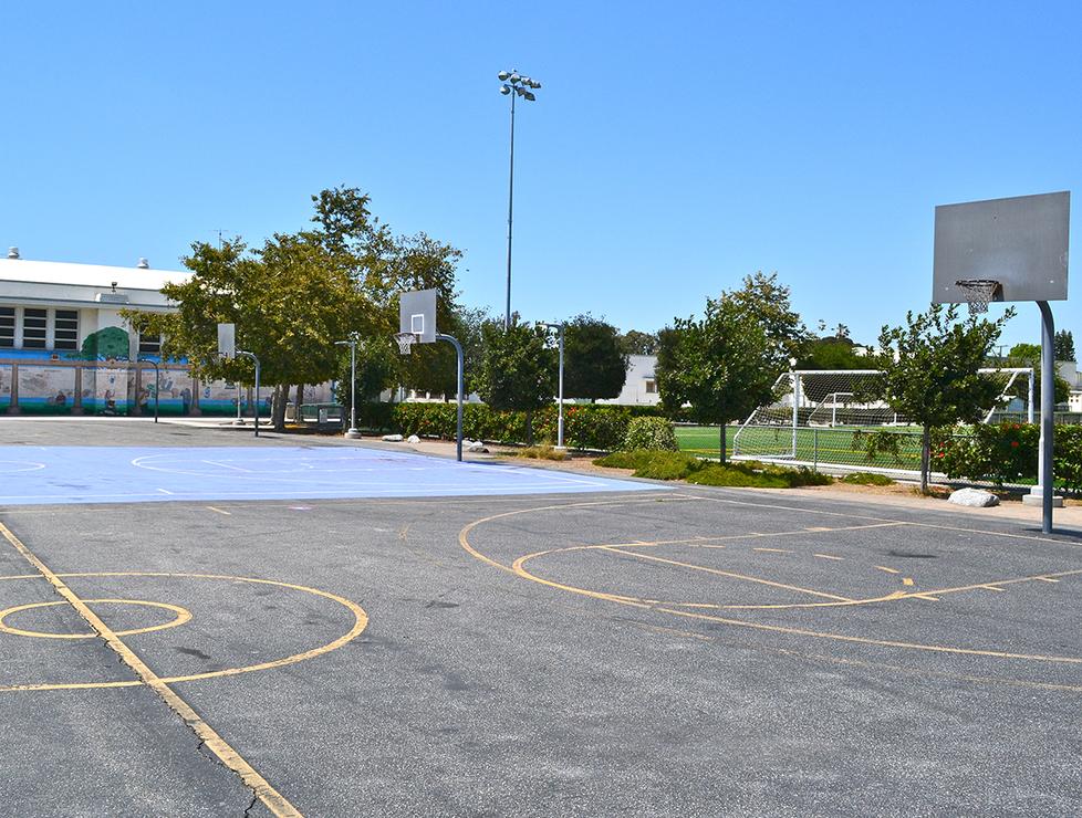 John Adams Outdoor Basketball Courts