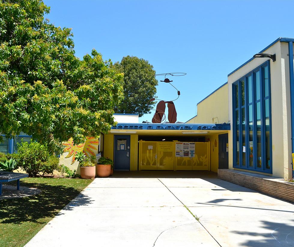 Will Rogers Elementary School Entrance