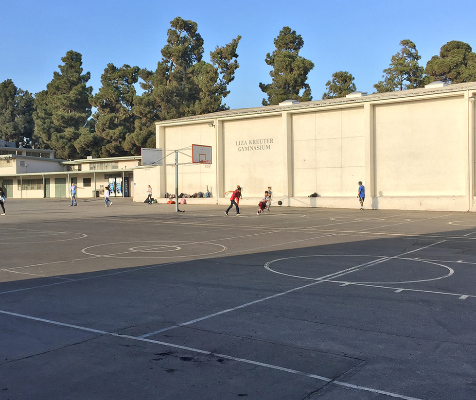 Lincoln Middle School Outdoor Basketball Court