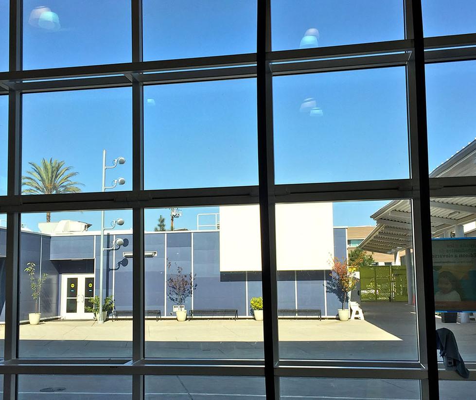 Edison Language Academy Movie Quad (View from Cafetorium)