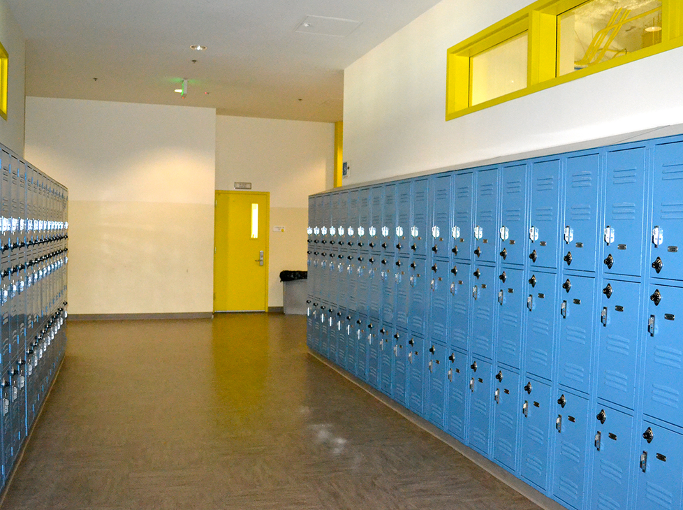 Lincoln Hallway with Lockers