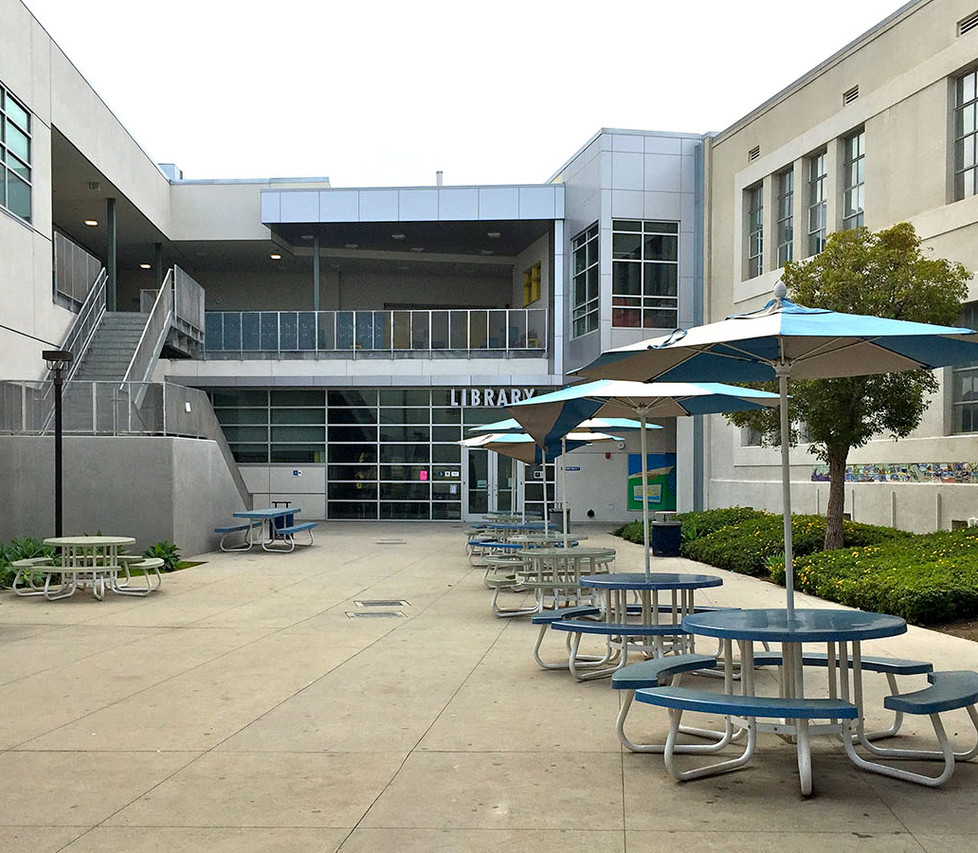 Lincoln Middle School Library Courtyard