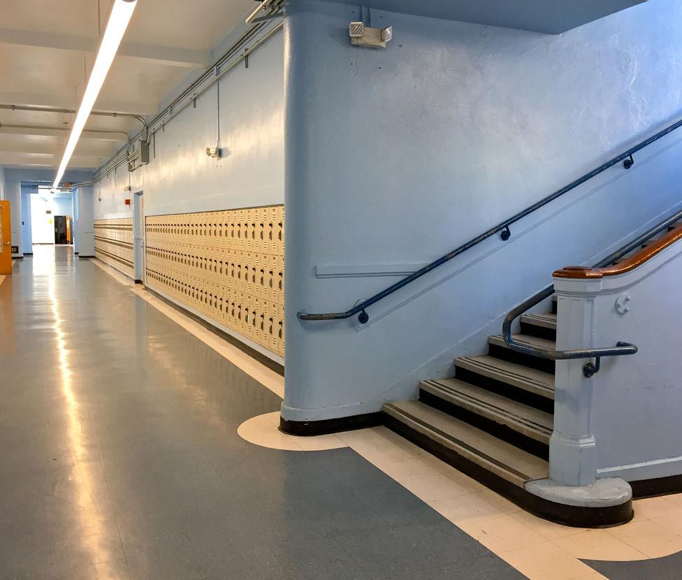 Santa Monica High School Hallway with Lockers