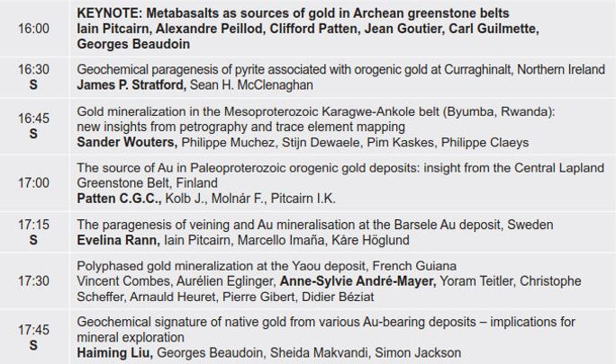 8. Gold - from orogenesis to allevial Tu