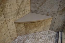 Brown Shitake Shower Bench