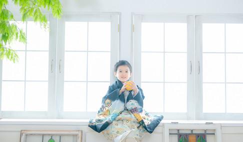 大阪・堺で七五三前撮りロケーション・スタジオ写真ならAo photo(アオフォト