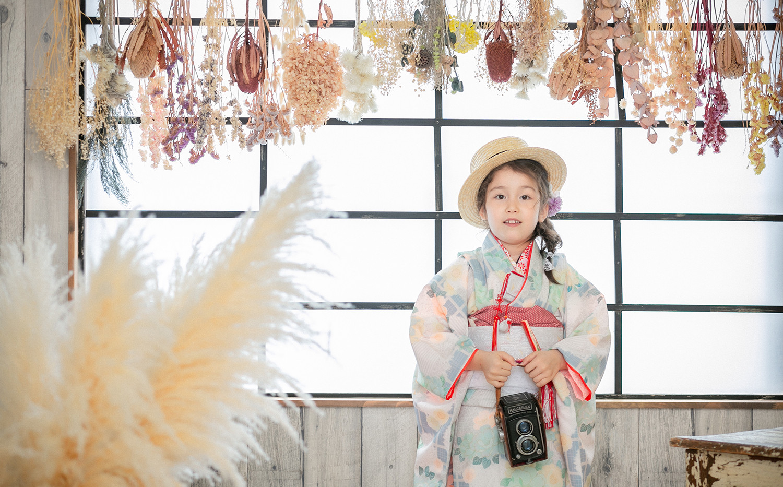 大阪市・堺市で七五三前撮りロケーション・スタジオ写真ならAo photo(アオフ