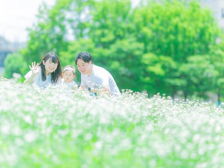 大人気!大阪でロケーション撮影〜公園でナチュラルな家族写真を〜