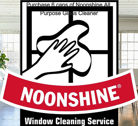 6 Cans  Noonshine All Purpose Glass Cleaner