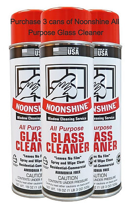 3 cans Noonshine All Purpose Glass Cleaner