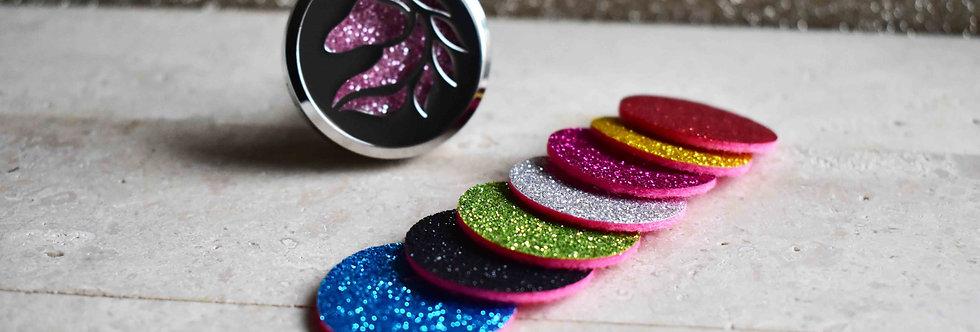 essential oil felt diffuser pads glitter